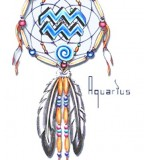 Horoscope Dream Catcher Tattoo Design Sketch