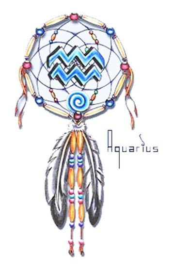 Horoscope Dream Catcher Tattoo Design Sketch