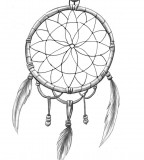 Simple Inkwear Dream Catcher Tattoo Love Sketch