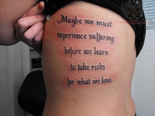 Fantasy Word Tattoos On Side Of Ribs Tattoomagz Tattoo Designs