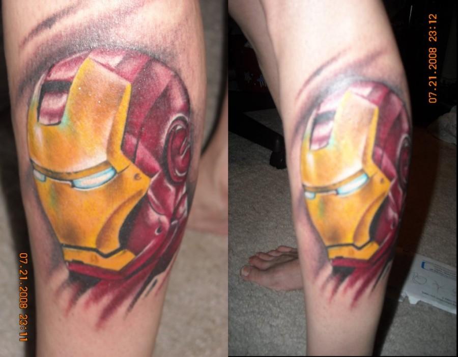 Iron Man Tattoo Cool Superero