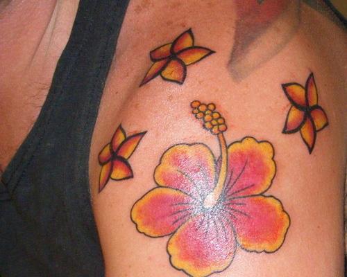 Overwhelming Hawaiian Flower Tattoo Design