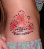 Beautiful Hibiscus Flower Tattoos for Women on Her Hip