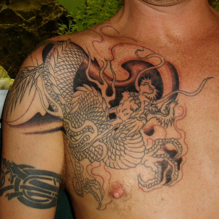 Japanese Mythical Dragon Tattoo Design and Meanings