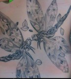 Tattoo Design of Twin / Couple Dragonfly Tattoos for Women