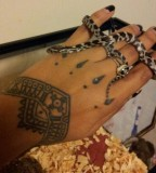 Sasha's Eye & Talisman Back Hand / Wrist Tattoo For Women