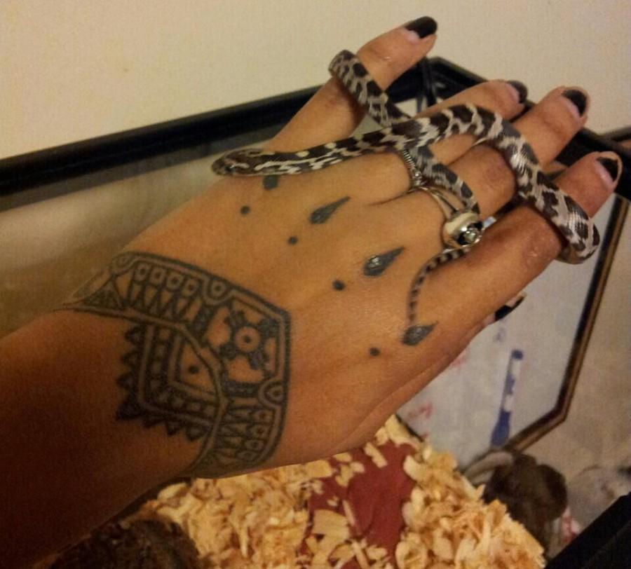 Sasha's Eye & Talisman Back Hand / Wrist Tattoo For Women