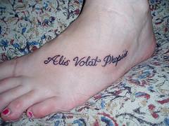 Letter Tattoo Design for Women on Feet