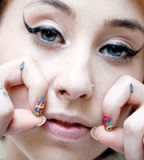 Cool Tear Drop Tattoo Design for Girl
