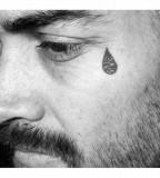 Cute Teardrop Tattoo Design for Men