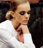 Beautiful Girl With Simple Teardrop Tattoo Design