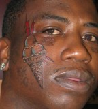 Gucci Mane Gets Ice Cream Tattoo His Face