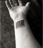 Monkwhy Barcode Tattoo Design by Suzanne Weyn