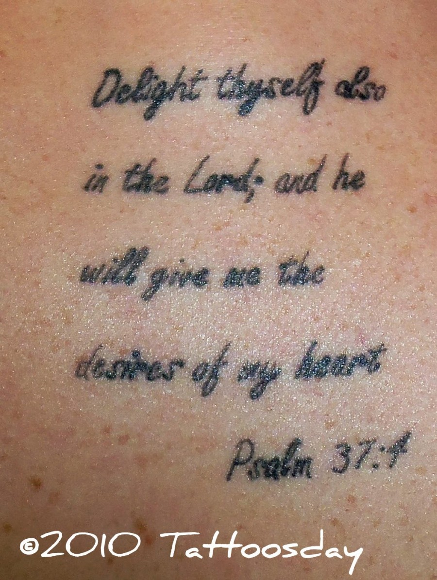 Quote About Strength Taken of Bible for Tattoo Design