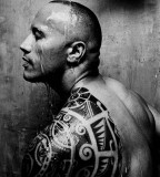 Dwayne Johnson Tribal Tattoo Design