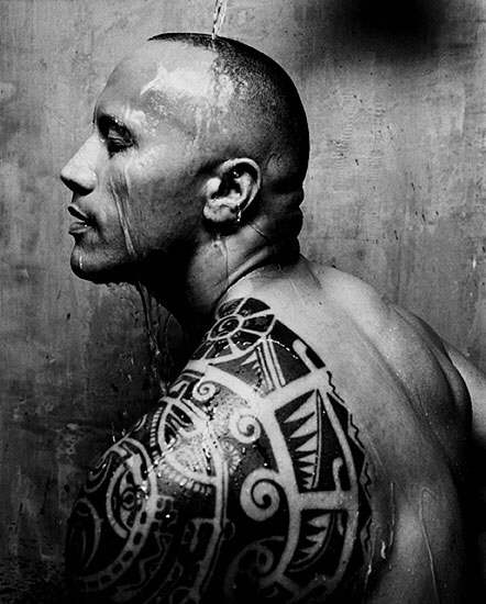 Dwayne Johnson Tribal Tattoo Design