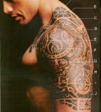 Dwayne Johnson with Cool Tribal Tattoo Design