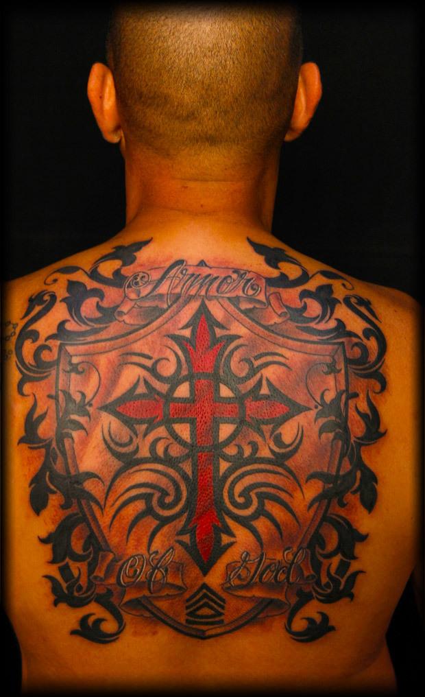 Tribal Tattoos Design on Back for Men