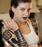 Girl with Awesome Tribal Tattoo Designs