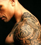 The Rocks Tattoo Design on Shoulder