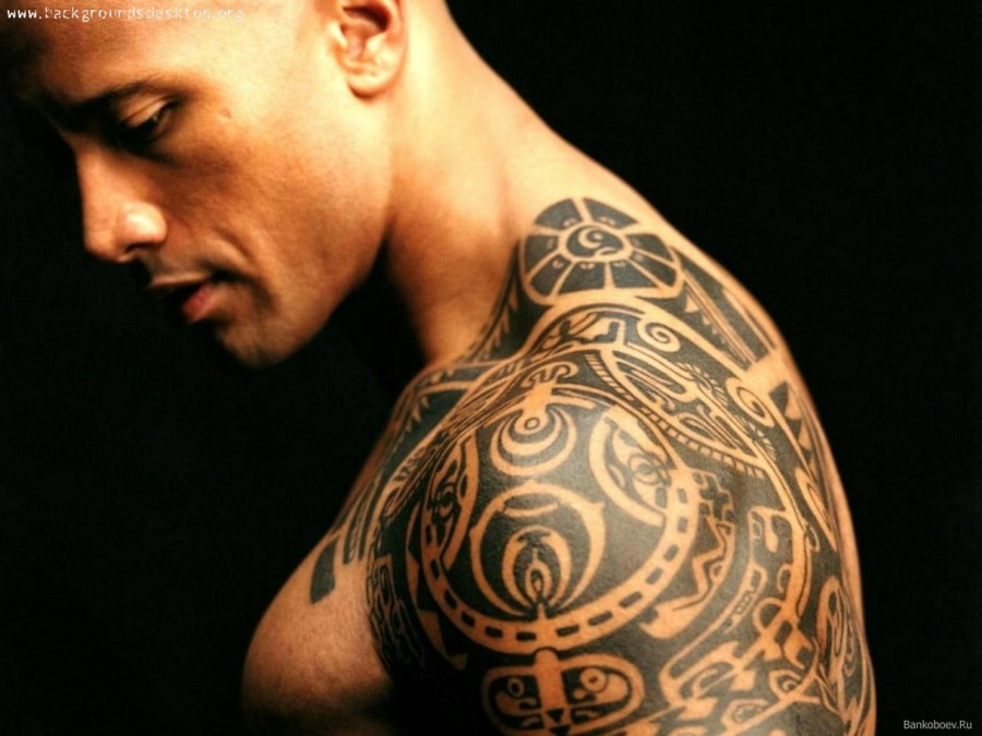 the-rock-tribal-tattoo-the- ...