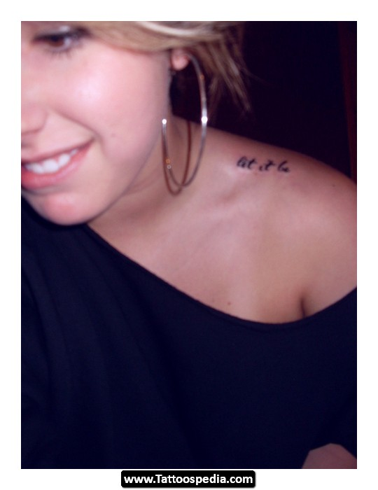 Let It Be Tattoo Design Idea 01