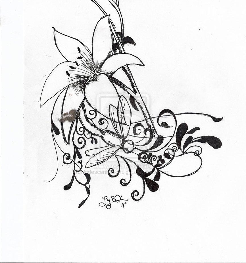 Lilydragonfly Tattoo On Deviantart