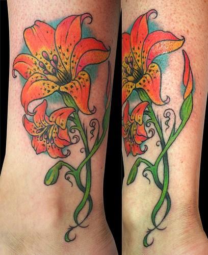 Llily Tattoo Design Art Body 2012