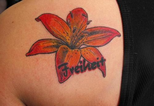 Tiger Lily  Tattoo Picture