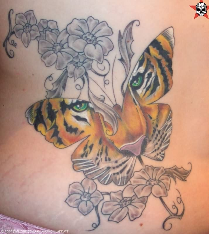 Women Butterfly Amp Tiger Tattoos Designs