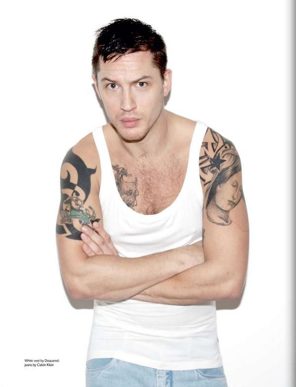 Actor Tom Hardy Wears Underwear Spotted His Tattoos