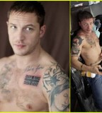 Tom Hardys Union Jack Chest Tattoos