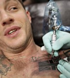 Tom Hardy United Kingdom Flag Tattoo