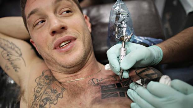 Tom Hardy United Kingdom Flag Tattoo