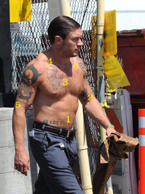 Tom Hardy Captainkirk Spotlessspot Tattoos