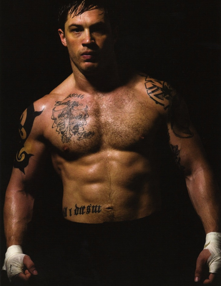 Tom Hardy Warrior Tattoos in the Body and Arm