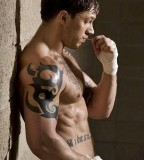 Tom Hardy Tribal Tattoos in the Warrior Session Photo