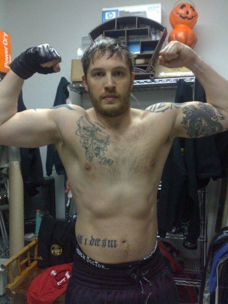 Tom Hardys Tattoos Warrior Mma Muscle Workout