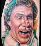 Buddy the Elf - Will Ferrell Inspired Funny Colorful Tattoo
