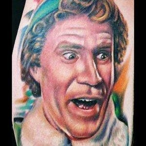 Buddy the Elf – Will Ferrell Inspired Funny Colorful Tattoo