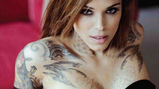 Arabella Drummond's Neck to Hands Tattoos