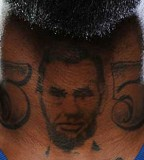 DeShawn Stevenson's Abraham Lincoln Tattoo on Neck