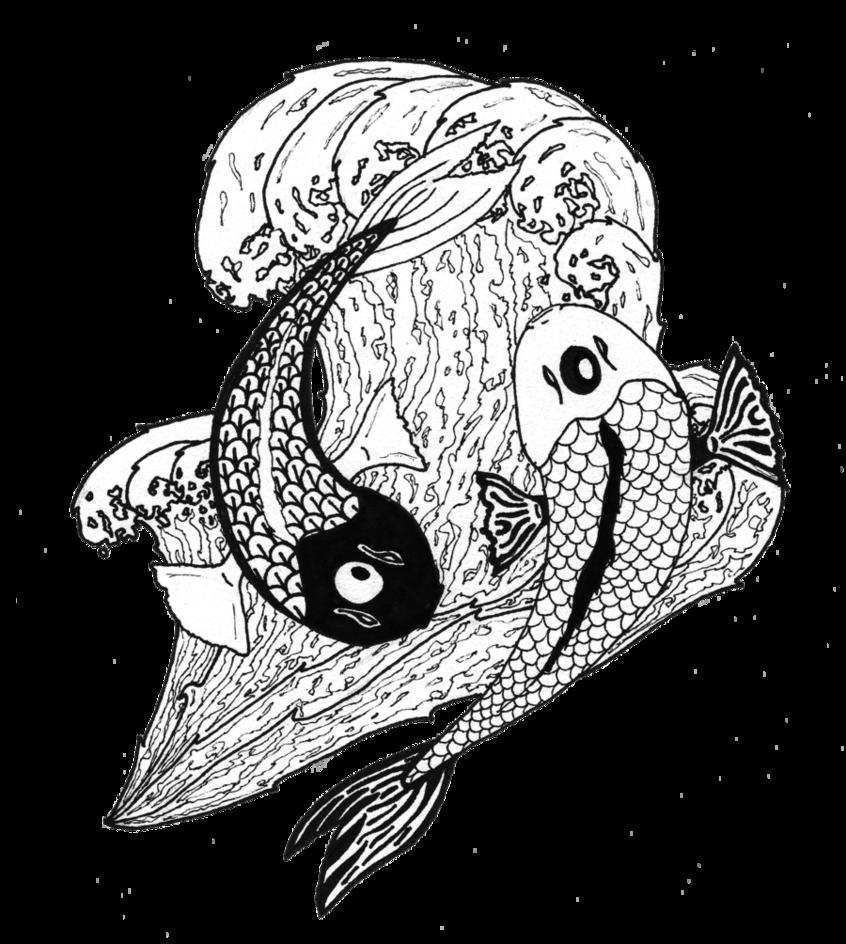 Japanese Tattoo Yin and Yang Koi Designs Bullseye