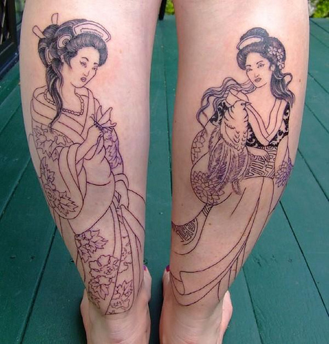 Mister Tattoos Sexy Women Tattoos With Traditional Japanese