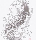 Oriental Tattoo Traditional Koi Fish