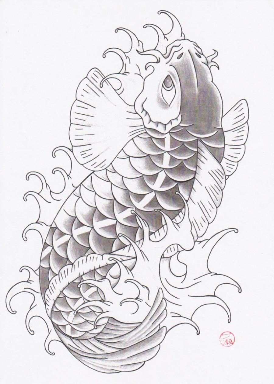 Oriental Tattoo Traditional Koi Fish
