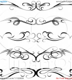 Beautiful Calligraphic Tattoo Vector