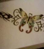 Fabulous Butterfly Tramp Stamp Tattoo Design Ideas