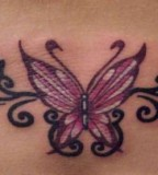 Imaginary Picture Of Butterfly Tramp Stamp Tattoo Ideas