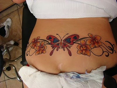 b713a304d Cute Butterfly Tattoos on Women Lower Back. Posted in gallery: Tramp Stamp  ...